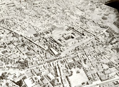 Model of Imperial Rome at the Time of Constantine: the Area of the Baths of Diocletian