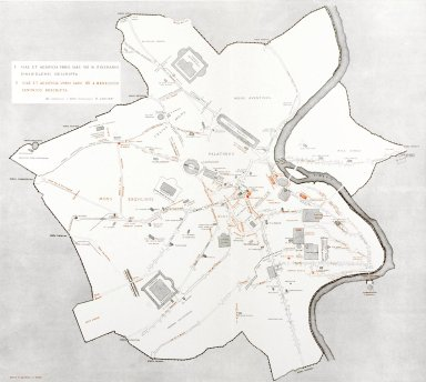 Map of Rome in the 8th-12th Century
