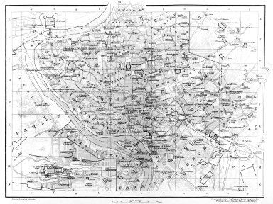 Map of 14th Century Central Rome