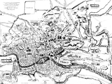 Map of Renaissance Rome