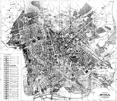 Map of Early 20th Century Rome