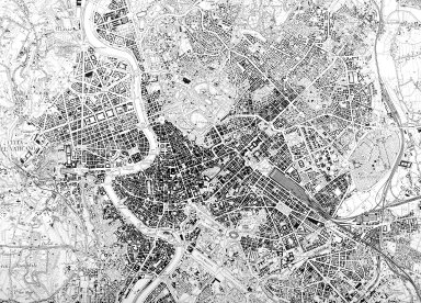 Map of Central Rome in the 20th Century