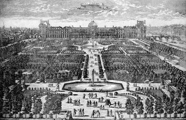 Jardin et le Chateau des Tuileries