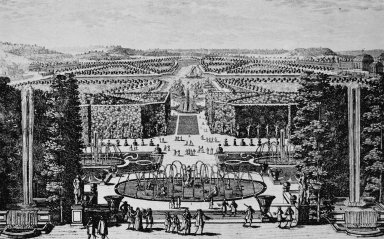 Versailles with the Latone Fountain and Grand Canal