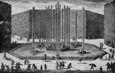 Versailles with the Bassin de Bacchus or Bassin de Ceres