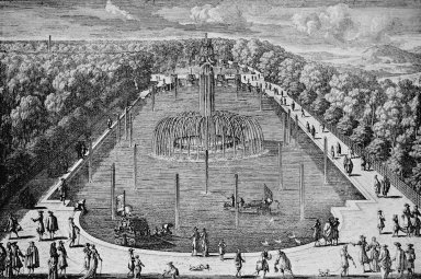 View of Versailles with the L'Ile Royale