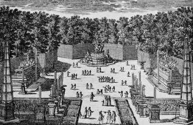 Versailles with the Bosquet de l'Arc de Triomphe