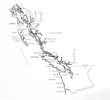 Map of the Northwest Coast Native American Tribes