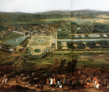 Louis XIV Hunting Near the Chateau of Fontainebleau