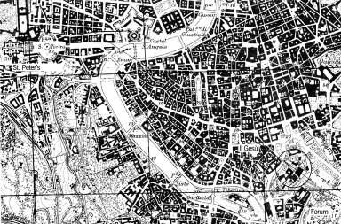 Map of Rome with the Piazza del Campidoglio Indicated