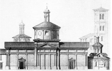 Church Facade on the Via del Falcone