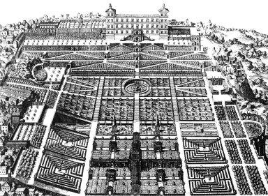 Engraving of Villa d'Este
