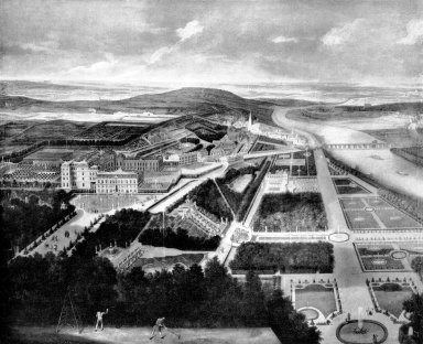 View of the Chateau and Gardens of St. Cloud