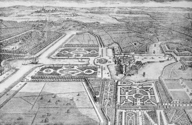 General View of the Chateau de Chantilly and its Gardens