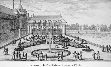 View of the Chateau de Chantilly with Le Petit Chateau