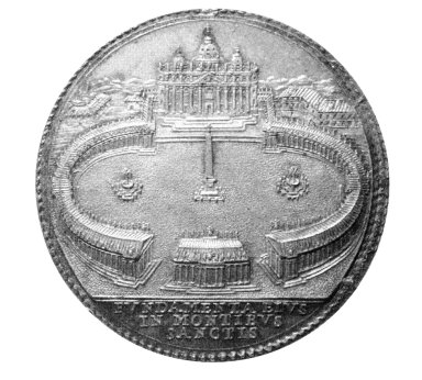 Medal with Bernini's Design for the Colonnade at Saint Peter's Piazza