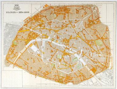 Map of Haussmann's Plan of Paris