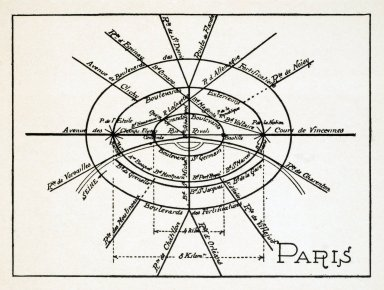 Theoretical Diagram of the Streets of Paris