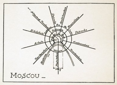 Theoretical Diagram of the Streets of Moscow
