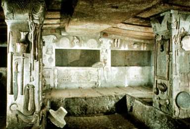 Etruscan Tombs: Tomb of the Reliefs