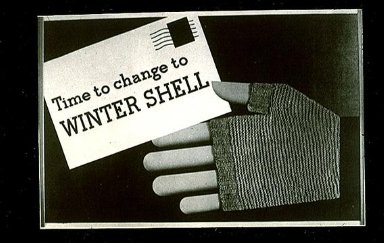 Time to Change to Winter Shell Poster