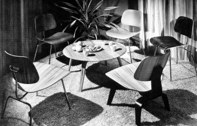 Eames's Chair Designs from a Herman Miller Catalog Page
