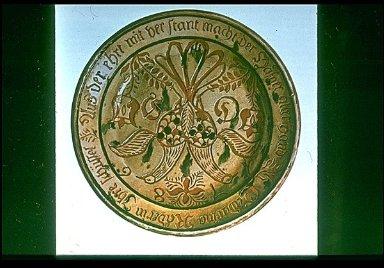 Earthenware Dish; Pennsylvania German