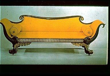 Empire-Style Dolphin Sofa