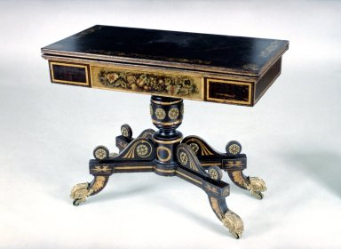 Classical Revival Card Table
