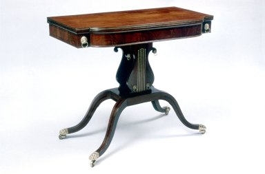 Card Table: Made in Suite with an Armchair