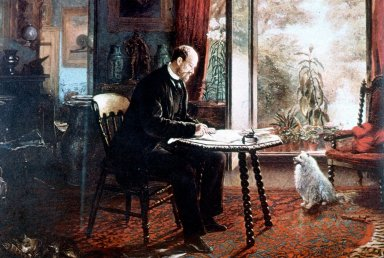 Charles Reade in His Study