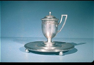 Silver Mustard Pot on Stand