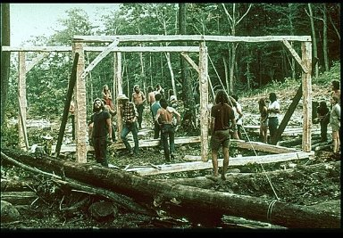 Barn Raising of Mortise and Tenon Frame