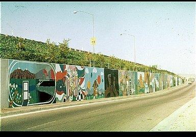 Multi-Paneled Freeway Mural