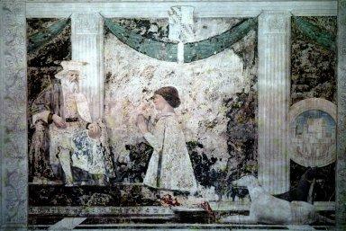 Sigismondo Malatesta Kneeling Before his Patron Saint
