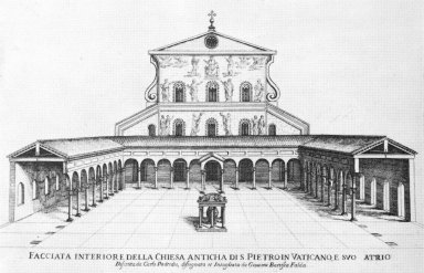 Atrium of Old Saint Peter's