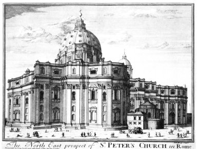 North East Prospect of Saint Peter's Church in Rome