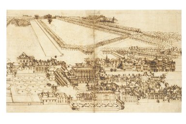 Bird's Eye View of Whitehall Palace