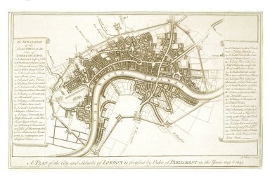 Plan of the City and Suburbs of London as Fortified by Order of Parliament in the Years 1642 and 1643