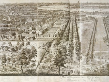 View and Perspective of the City of London, Westminster, Saint James Park