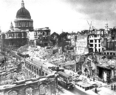 Devastation in London During World War II