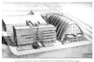 Plan for the Building for the Confederation of Mexican Workers