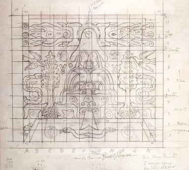 Plan for the Allegory of Mexico Mosaic