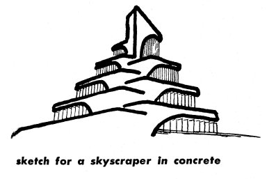 Sketch for a Skyscraper in Concrete