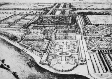 Birds' Eye View of Hampton Court