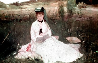 Artist's Sister Madame Pontillon, Seated on the Grass