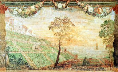 View of the Villa d'Este and the Gardens According to the Original Plans
