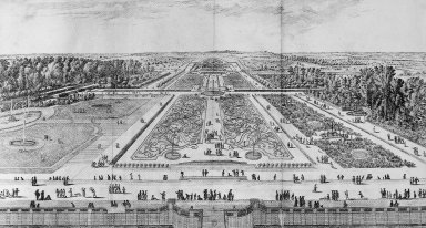 View of the Gardens at Vaux-le-Vicomte