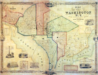 Map of the City of Washington D.C.