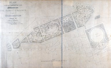 Plan Showing Proposed Method of Laying Out the Public Grounds at Washington